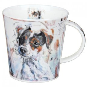 Dunoon Dogs On Canvas Jack Russell Cairngorm Shape Mug