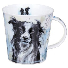 Dunoon Dogs On Canvas Collie Cairngorm Shape Mug
