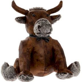 Faux Fox Bull Doorstop