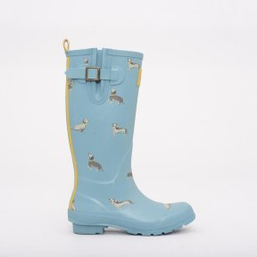 Brakeburn Sausage Dog Wellies - Sea Blue