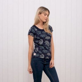 Brakeburn Cow Parsley T Shirt - Navy