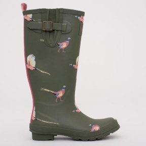 Brakeburn Pheasant Wellies - Khaki Green