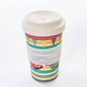 Eco-Chic Bamboo Cup - Travel Mug - Campervan