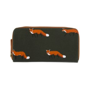 Sophie Allport Foxes Olicloth Wallet Purse