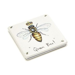Square Compact Mirror - Queen Bee