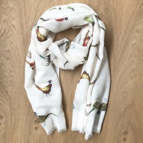 At Home In The Country Pheasants Scarf