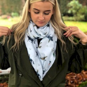 At Home In The Country Horse Lovers Scarf