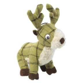 House of Paws -Green Tweed Dog Toy - Stag