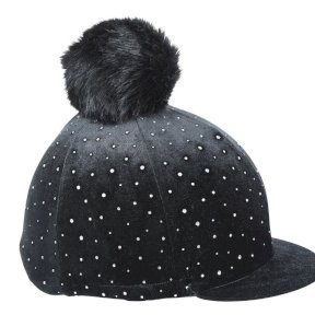 Velvet Sparkle Hat Silk/Cover - Black