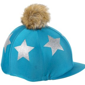 Glitter Star Hat Silk/Cover - Teal