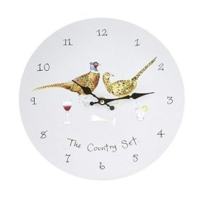 At Home In The Country - Wall Clock - The Country Set - Pheasants