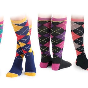 Shires Everyday Fresh Socks - Argyle - Childrens - Teal, Royal, Black Navy