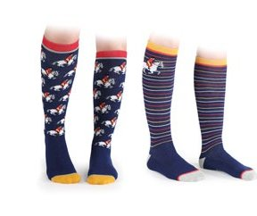 Everyday Socks - Adults - 2 Pack - Fox, Horse or Pheasant Design