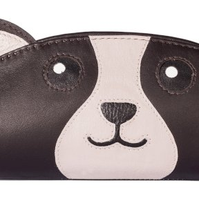 Mala Leather Paw Pals Bailey The Dog Glasses Case