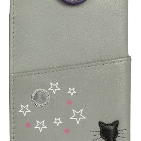 Mala Leather Midnight Cat Glasses Case