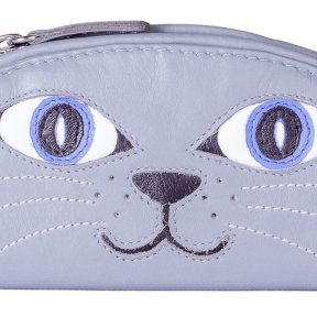 Mala Leather Paw Pals Lola The Cat Glasses Case