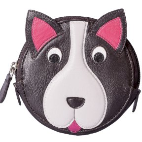Mala Leather Pinky Dog Round Coin Purse