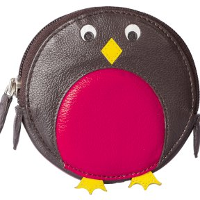 Mala Leather Pinky Robin Round Coin Purse