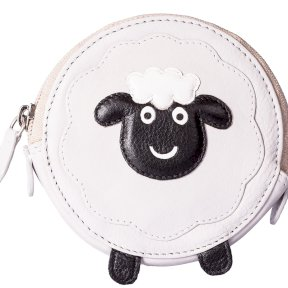 Mala Leather Pinky Sheep Round Coin Purse