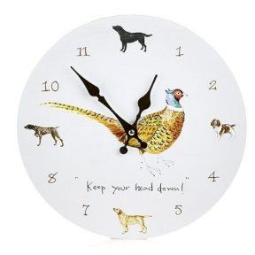 Wall Clock - Pheasant - Keep Your Head Down