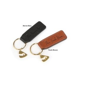 Aubrion Leather Horse Box Keyring