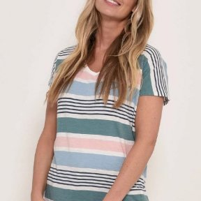 Brakeburn Ladies Candy Stripe T Shirt