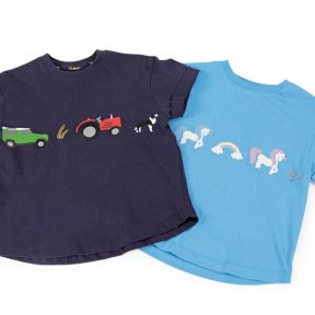 Tikaboo Childrens T Shirt - Unicorn and Farmyard