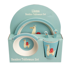 Dolly LLama Bamboo Tableware Set