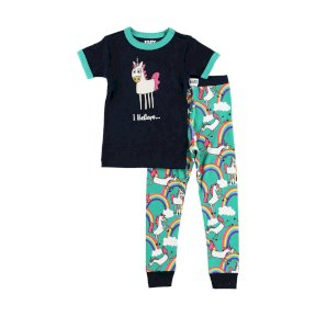 LazyOne Believe In Unicorns Kids PJ Set