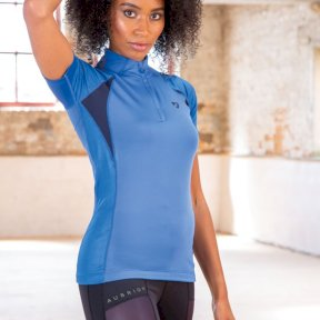 Shires Aubrion Highgate Short Sleeve Ladies Base Layer - Blue