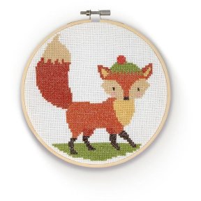 The Crafty Kit Company - Cross Stitch Fox Kit