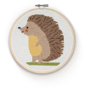 The Crafty Kit Company - Cross Stitch Hedgehog Kit