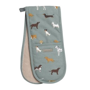 Sophie Allport Fetch Double Oven Glove - Dogs